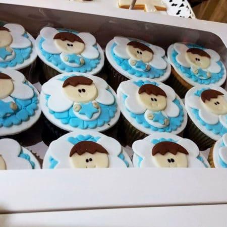 Cupcakes Bautizo Niño Angelitos