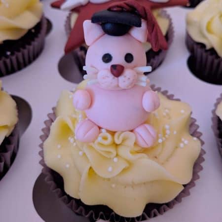 Cupcakes Graduacion Gato con Birrete