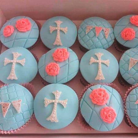 Cupcakes Primera Comunión Cruz