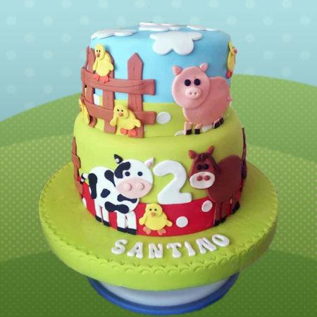 Torta-Animales-Granja