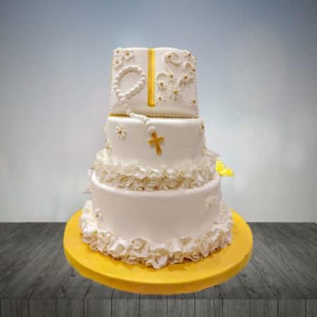 Torta para bautizo 2 pisos