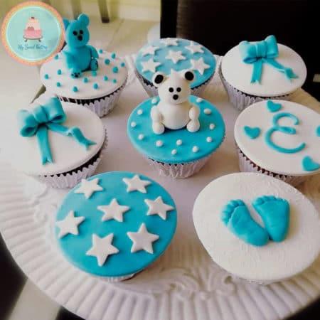 Cupcakes Baby Shower Niño con Osos