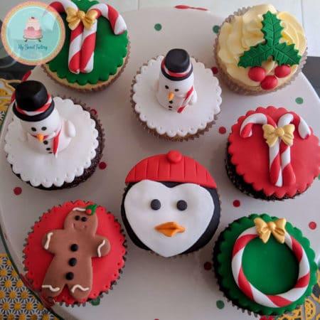 Cupcakes Formas Navideñas